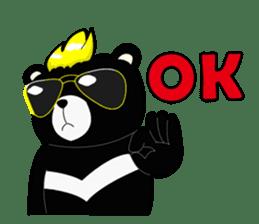 Formosan black bear boss sticker #5217788