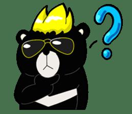 Formosan black bear boss sticker #5217790