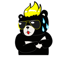 Formosan black bear boss sticker #5217802