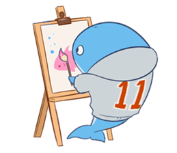 James The Whale sticker #5224906