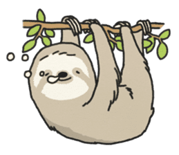 lazy sloth sticker #5253780