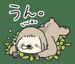 lazy sloth sticker #5253781