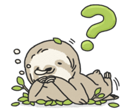 lazy sloth sticker #5253783