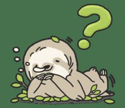 lazy sloth sticker #5253783