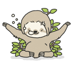 lazy sloth sticker #5253785