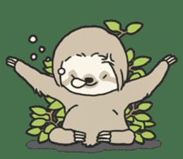 lazy sloth sticker #5253785