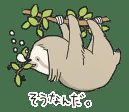 lazy sloth sticker #5253786