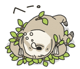 lazy sloth sticker #5253787