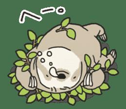 lazy sloth sticker #5253787