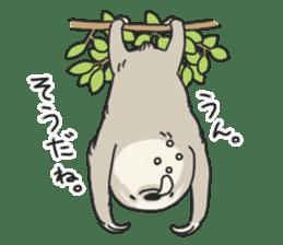 lazy sloth sticker #5253788