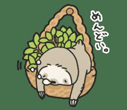lazy sloth sticker #5253791