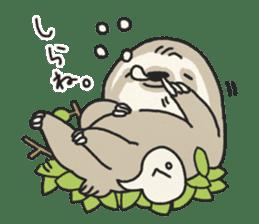 lazy sloth sticker #5253792
