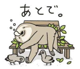lazy sloth sticker #5253793