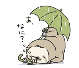 lazy sloth sticker #5253795