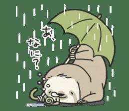 lazy sloth sticker #5253795