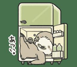 lazy sloth sticker #5253798