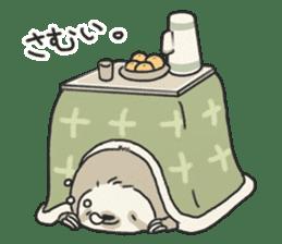 lazy sloth sticker #5253799