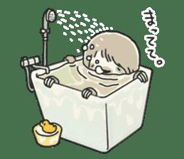 lazy sloth sticker #5253800
