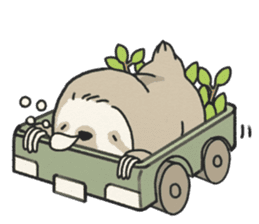 lazy sloth sticker #5253805