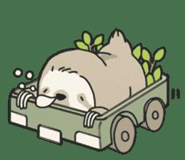 lazy sloth sticker #5253805