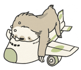 lazy sloth sticker #5253807