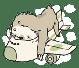 lazy sloth sticker #5253807