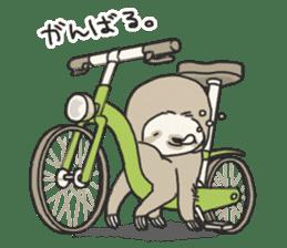 lazy sloth sticker #5253809