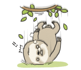 lazy sloth sticker #5253810