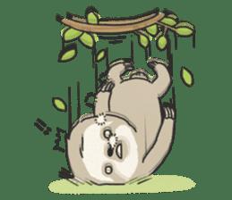lazy sloth sticker #5253810