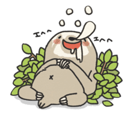 lazy sloth sticker #5253811
