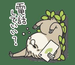 lazy sloth sticker #5253812