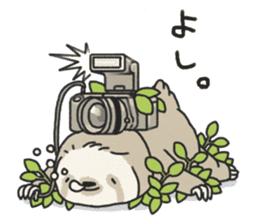 lazy sloth sticker #5253813
