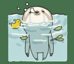 lazy sloth sticker #5253815