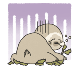 lazy sloth sticker #5253816