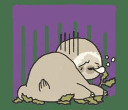 lazy sloth sticker #5253816