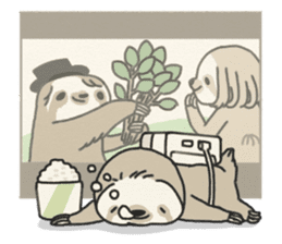 lazy sloth sticker #5253817