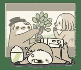 lazy sloth sticker #5253817