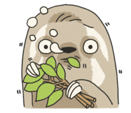 lazy sloth sticker #5253819