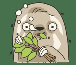 lazy sloth sticker #5253819