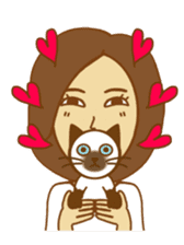 O loves cats & dogs sticker #5254263