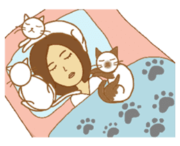 O loves cats & dogs sticker #5254273