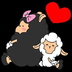 Mae has a little lamb