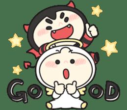 Cute Angel N Devil sticker #5254675