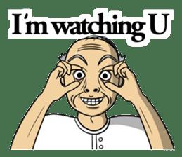 The unknown man 2 ( english ) sticker #5257955