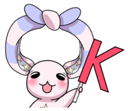 Bedhead rabbit. Doodling life. sticker #5258336