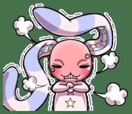 Bedhead rabbit. Doodling life. sticker #5258339