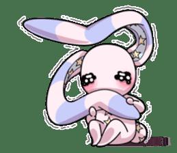 Bedhead rabbit. Doodling life. sticker #5258356