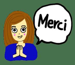 Lea French girl sticker #5261056