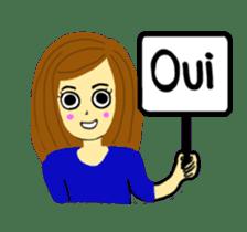 Lea French girl sticker #5261057