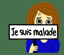 Lea French girl sticker #5261064